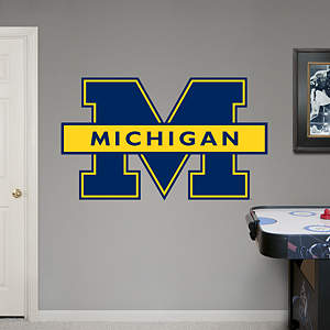 Michigan Wolverines Blue Logo Fathead Wall Decal
